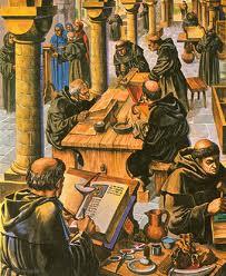 Moines copistes au Moyen-âge