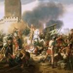 Bataille autour d'un château fort