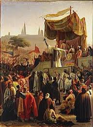 Saint Bernard prêchant la croisade