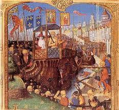 Le siège de Damiette par les croisés