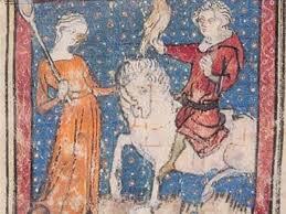 Un chevalier faisant la cour à Marion
