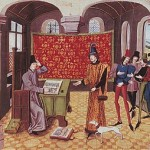 Froissard reçoit la visite d'un seigneur